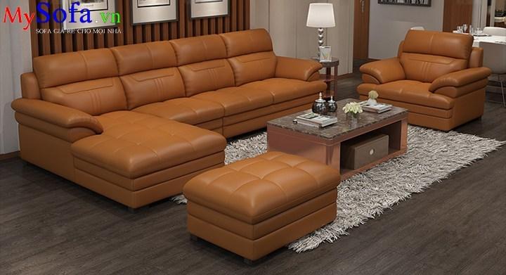 Bộ Sofa da cao cấp cho phòng khách sang trọng AmiA SFD204